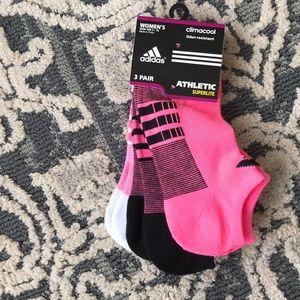 Adidas athletic ankle socks 3 pairs